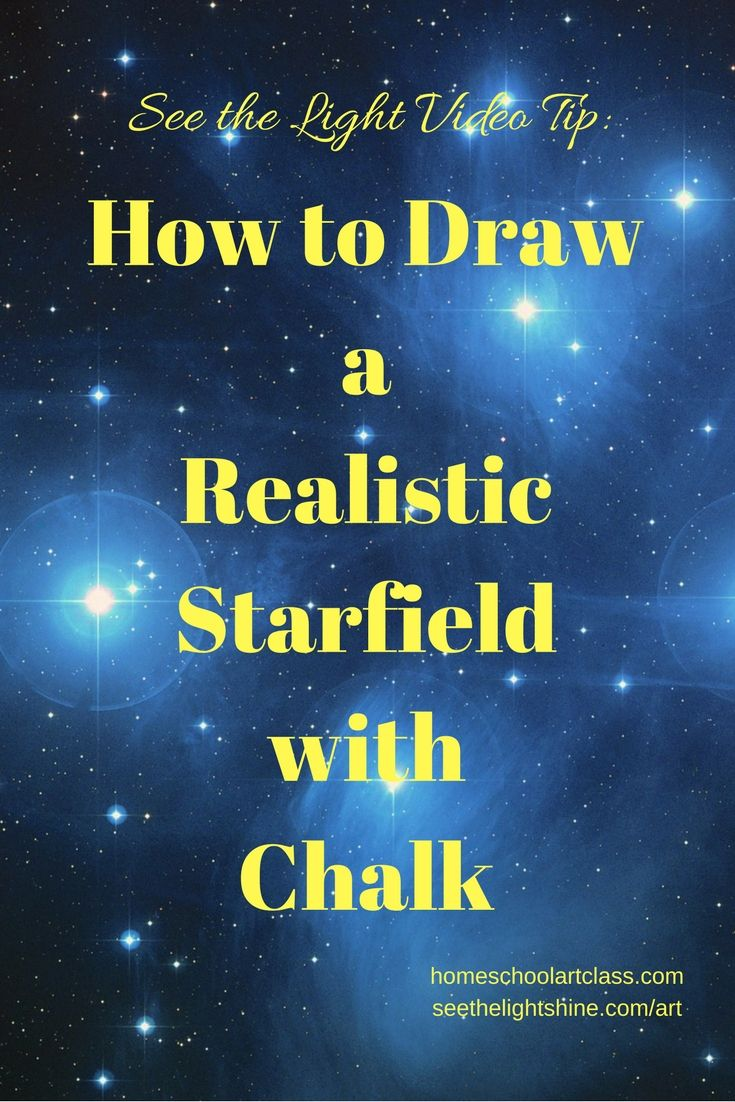 Video Tip How To Draw Realistic Starfields In Black Light Chalk