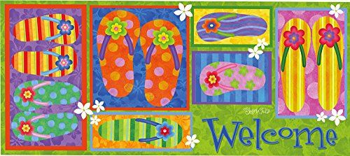 Sassafras Switch Mat 10x22 Inches Filp Flop Welcome >>> Be sure to check out this awesome product.