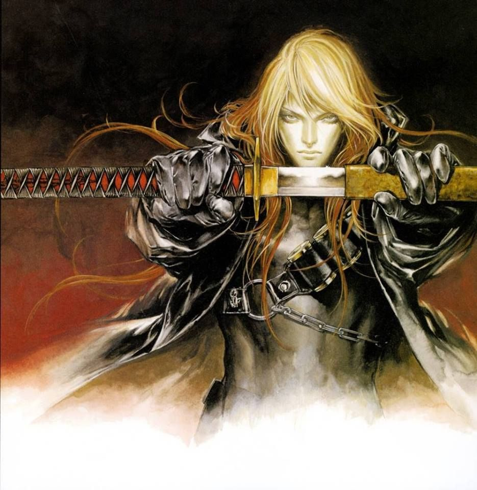 Castlevania art by Ayami Kojima (a Japanese game and concept artist who is best known for her work on the Castlevania series of video games with Konami)