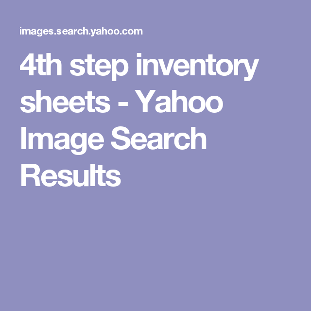 Celebrate Recovery Inventory Sheet