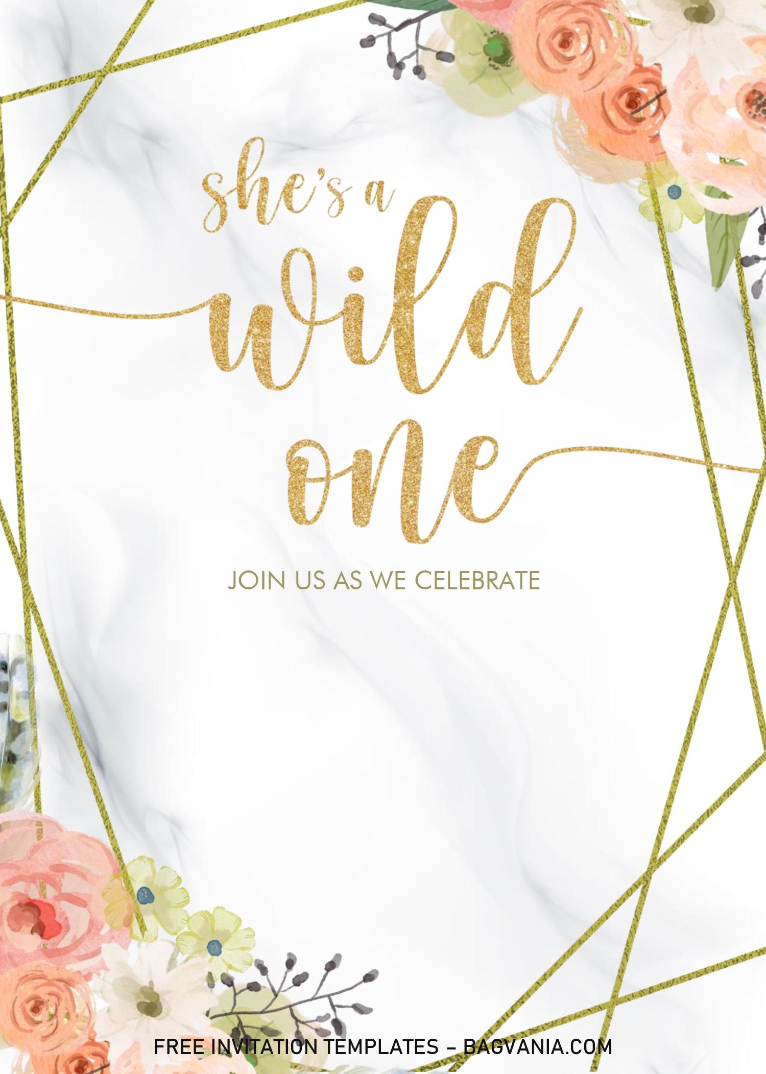 floral invitation templates editable