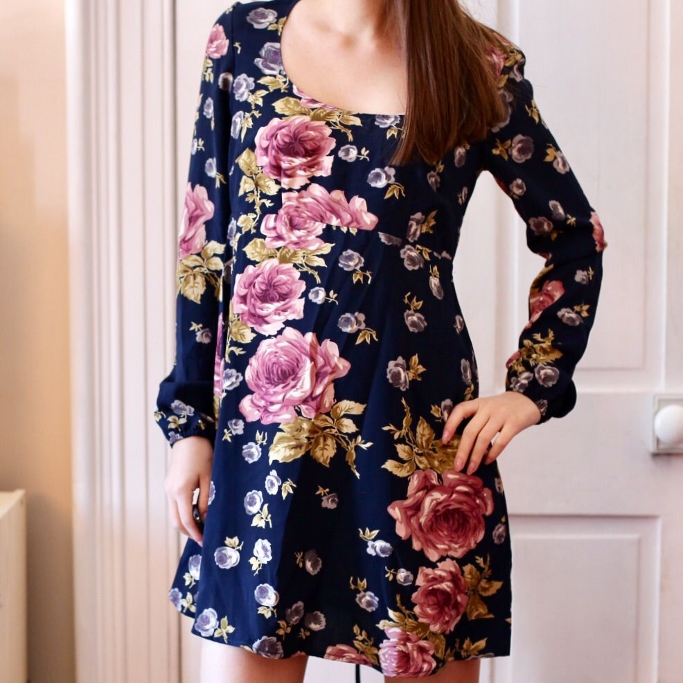 Uo floral long sleeve babydoll dress products