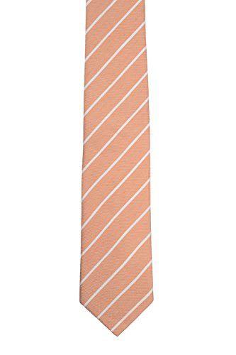 Linge Mince Cravate - Minces, Rares, Rayures Blanches Sur La Base De Lin D'abricot - Encoche Encoche Arjen