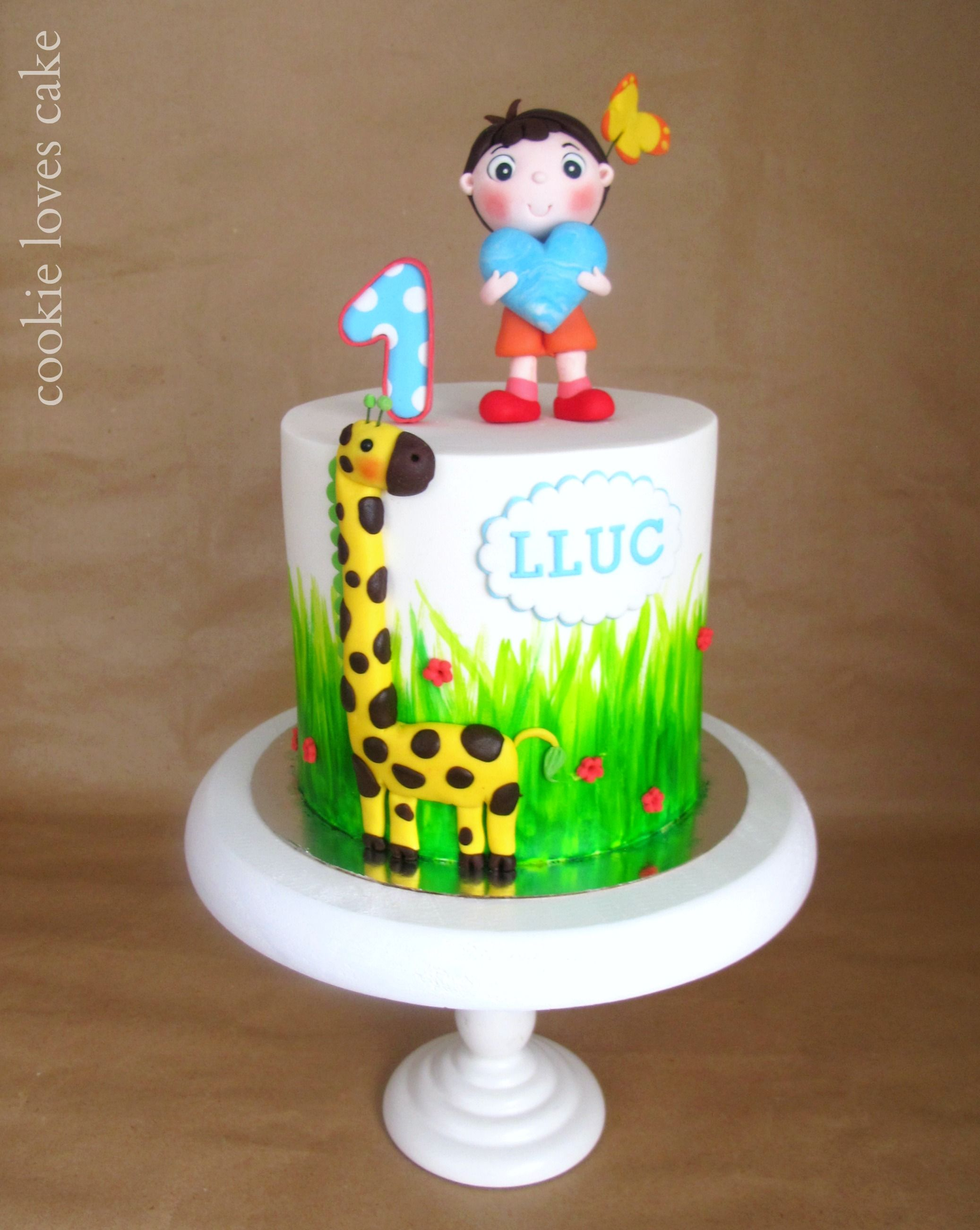 First Year Birthday Cake Cake Decorating Ideas Pinterest