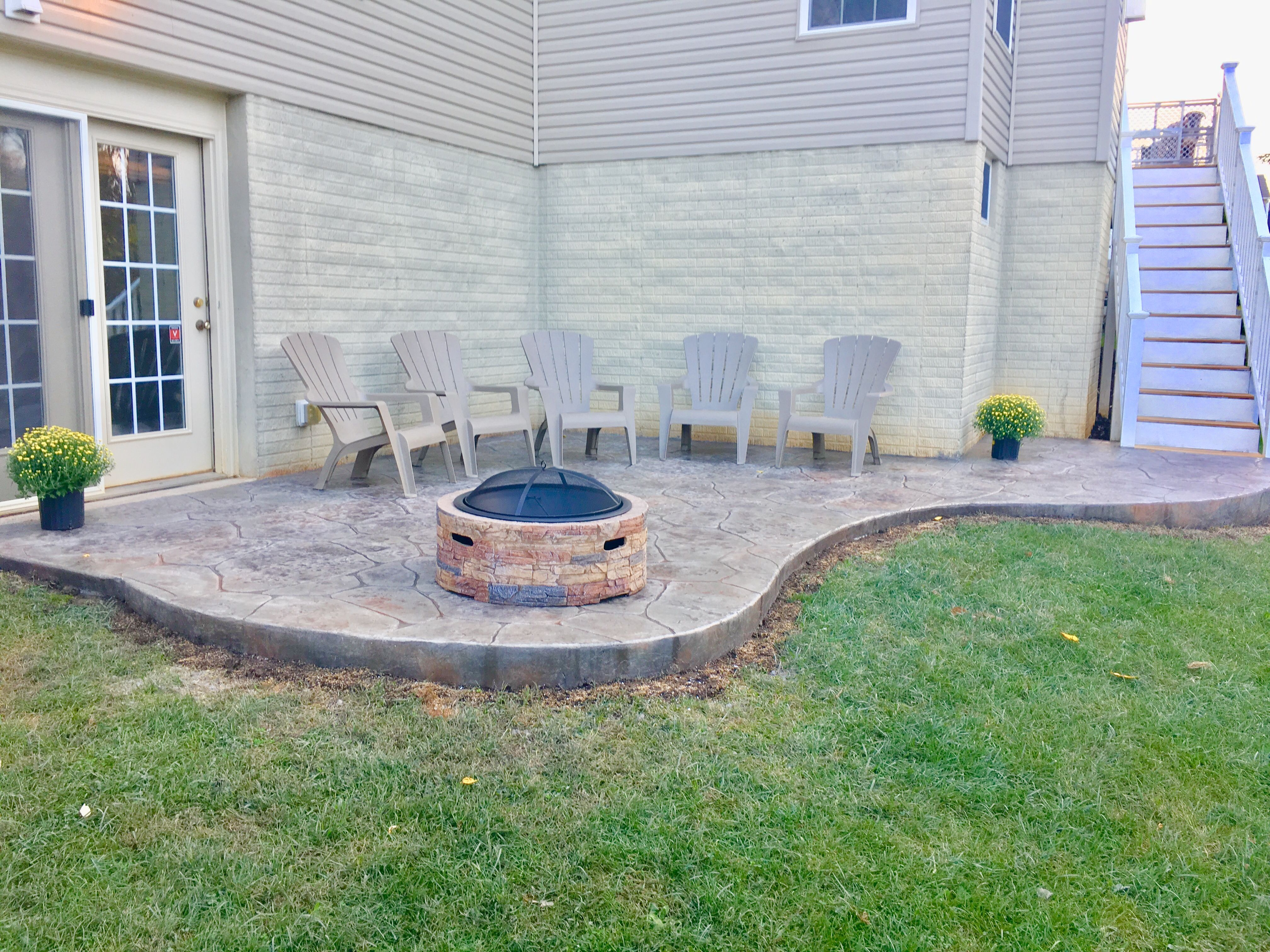 new stamped concrete patio love our home pinterest stamped