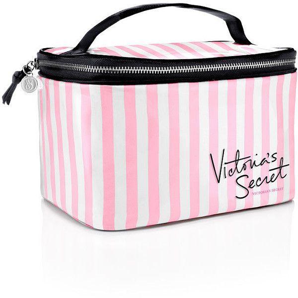 79548a0358bee Victoria's Secret VS Stripe Train Case ($30) ❤ liked on Polyvore ...