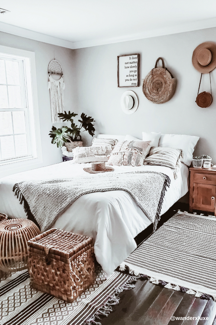 Photo of Boho Chic Bedroom Makeover. The inspirations behind this bedroom were drawn from…
