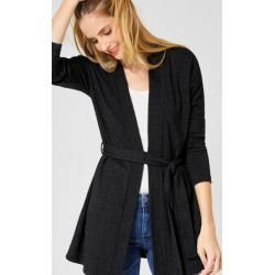 Photo of Street One – Lange Strickjacke mit Gürtel in Anthracite Melange Street OneStreet One