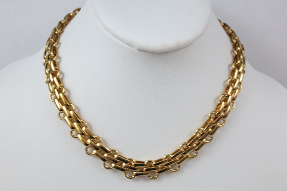 601082f7a4244 Vintage Christian Dior Gold Plated Chain Necklace #ChristianDior ...