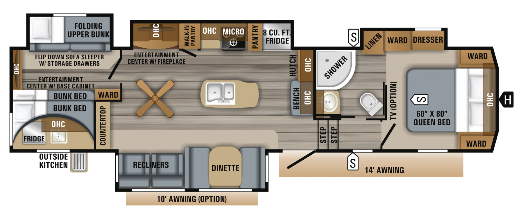 Jayco 325bhqs Bunk Beds Rv Floor Plans Bunk Bed Sets