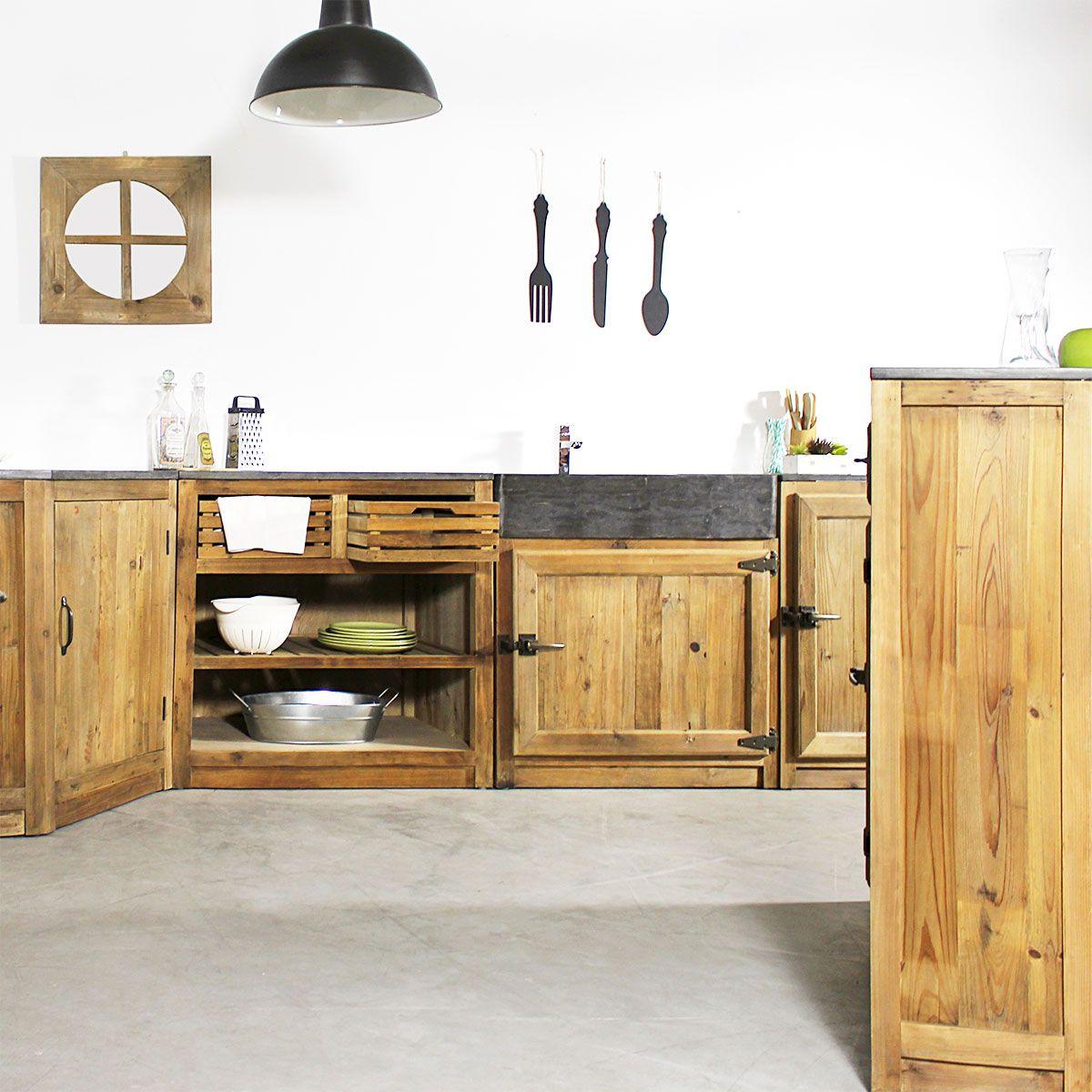 Meuble Cuisine Evier 2 Vasques Pierre Bleue Champetre Meuble Cuisine Mobilier De Salon Idee Rangement Cuisine