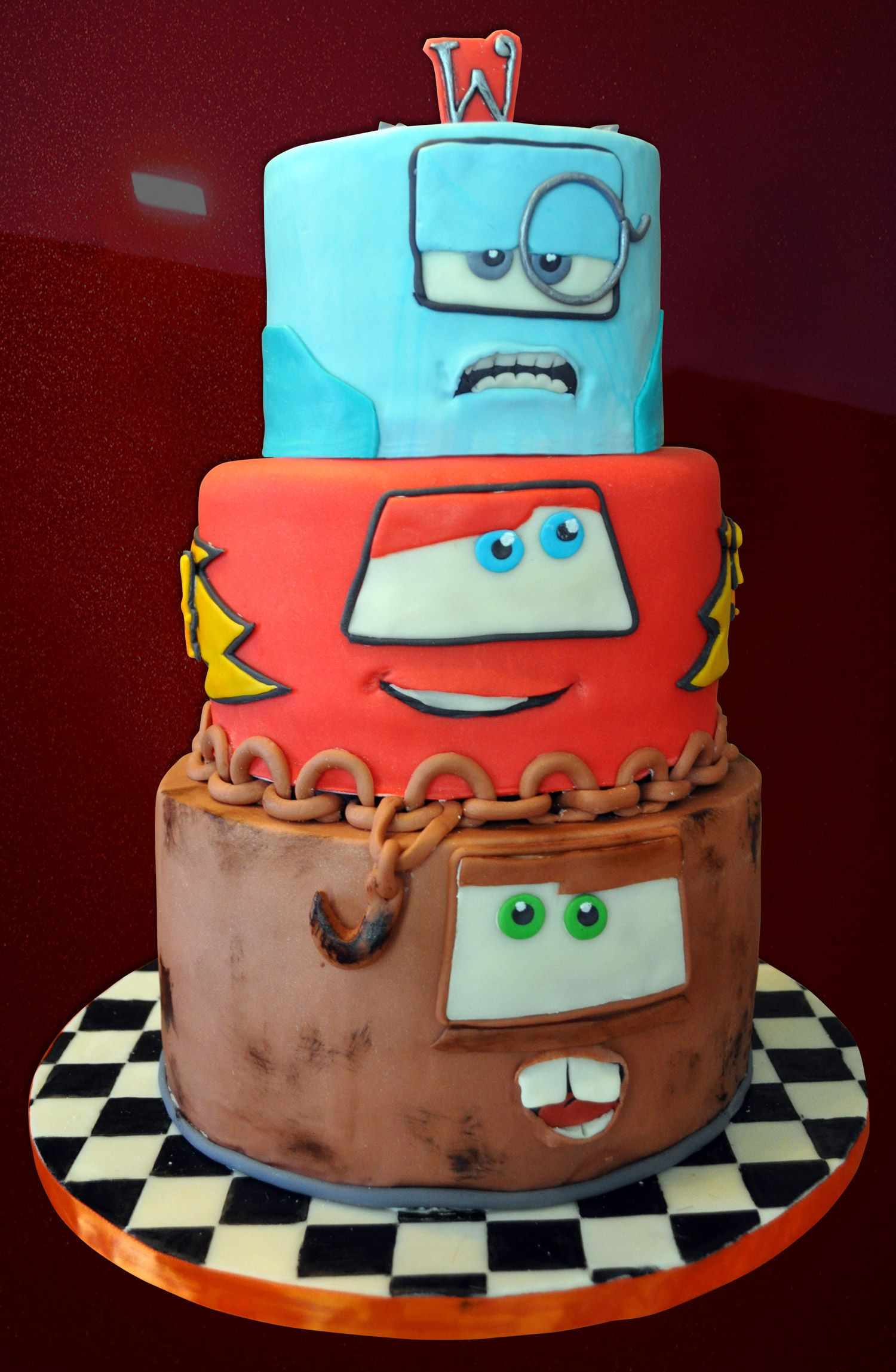Cars  Birthday Cake Noahs Rd Birthday Pinterest Birthday - Birthday cake cars 2