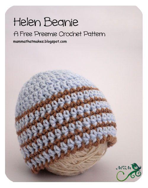 19. Helen Preemie Beanie | Pinterest