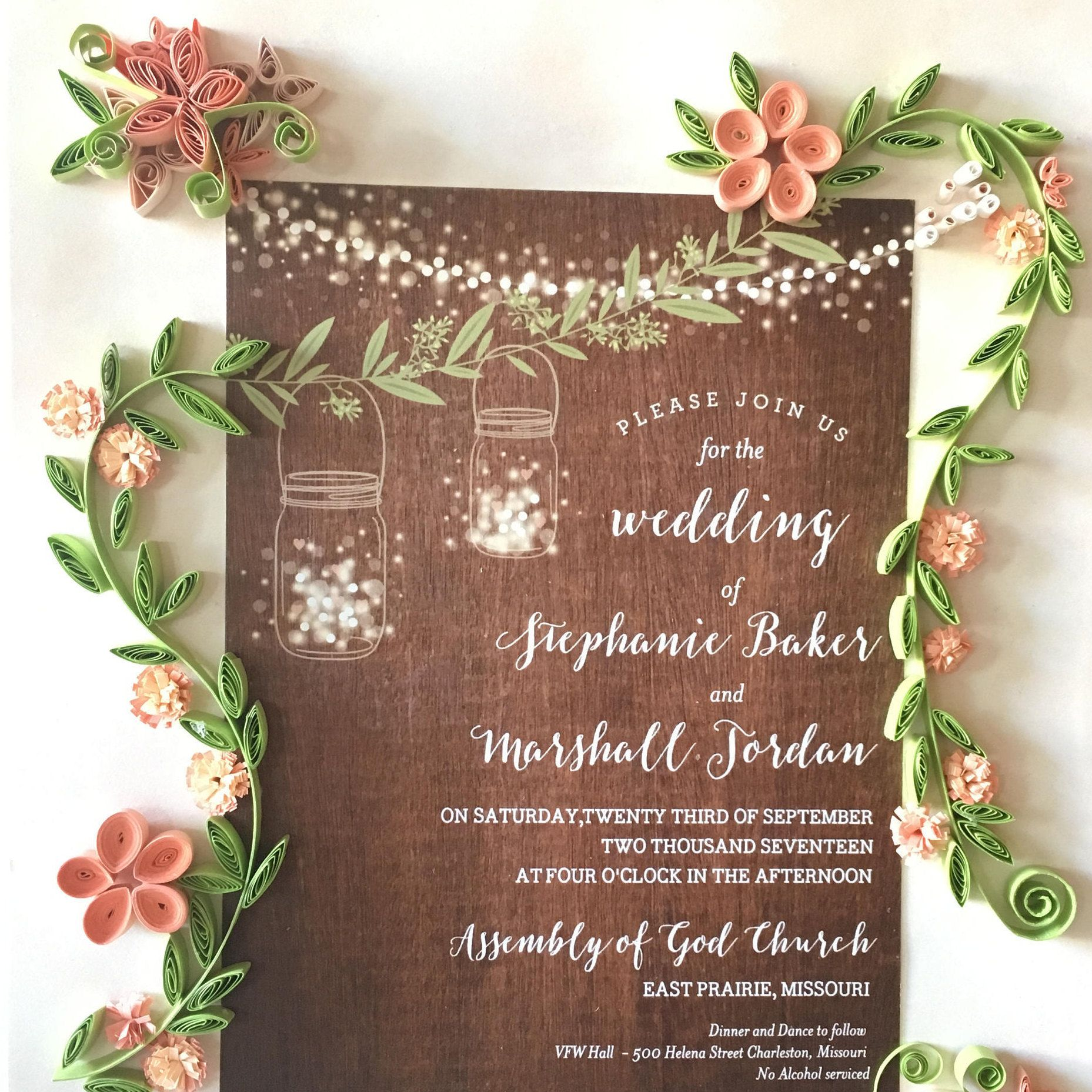 Couples Christmas Gift Wedding Invitation Keepsake Memorable