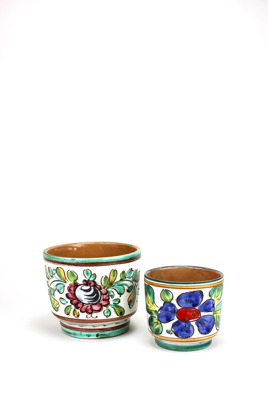 Vintage Majolika Blumentopf 2er Set Ubertopf Keramik Etsy Tableware Glassware Vintage