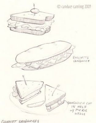 candace illustration cafe food and drink concept sketches