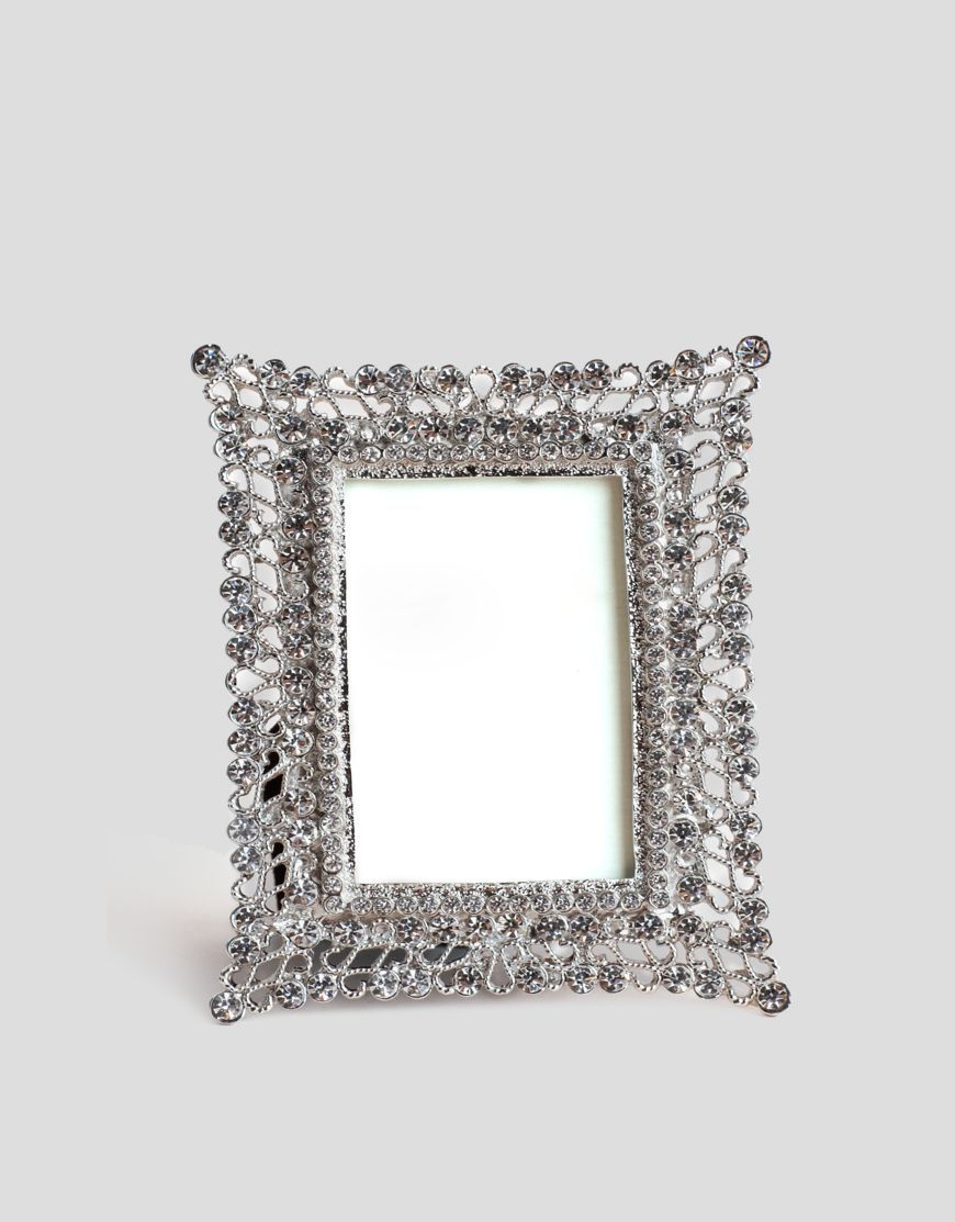 Shop figleaves Picture Frames silver and diamante frame at figleaves ...