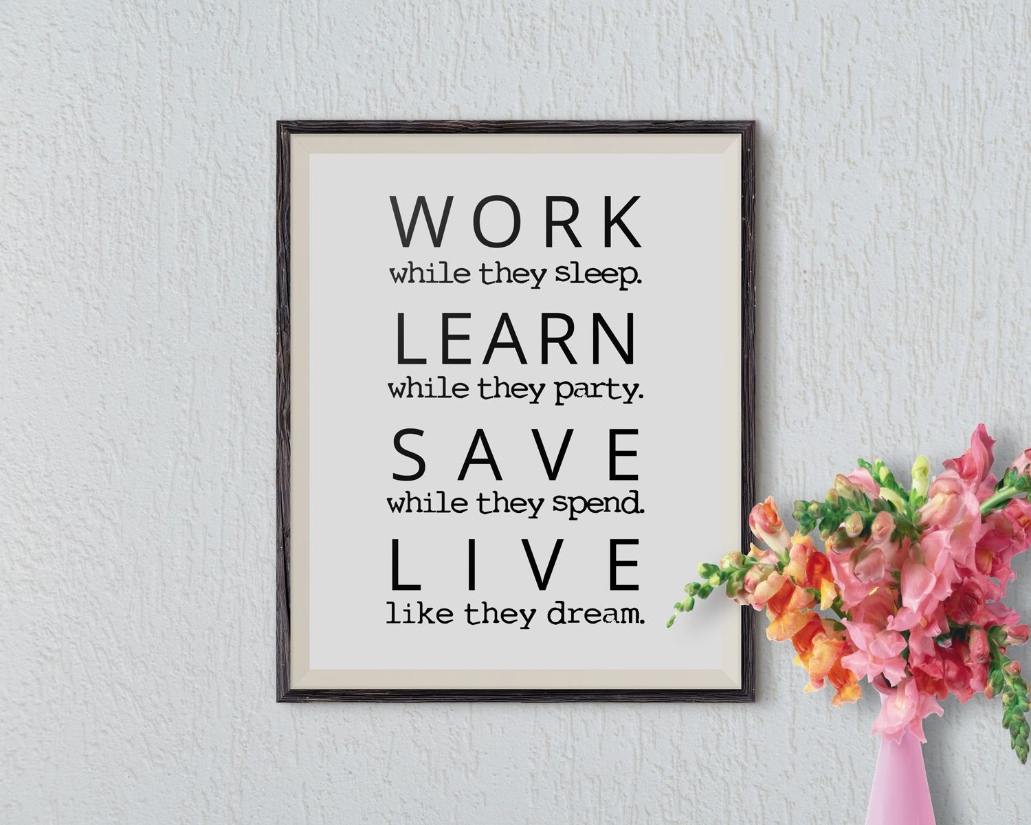 Wonderful Office Wall Art Motivational Wall Decor Inspirational Quote Success Quotes  Printable Office Quotes Poster Sayings Canvas