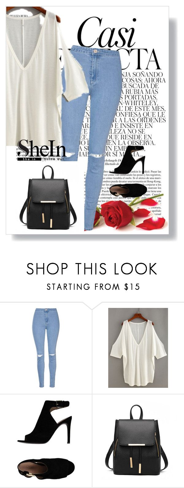 """Shein contest"" by melisadoll ❤ liked on Polyvore featuring Glamorous, Tory Burch and Whiteley"