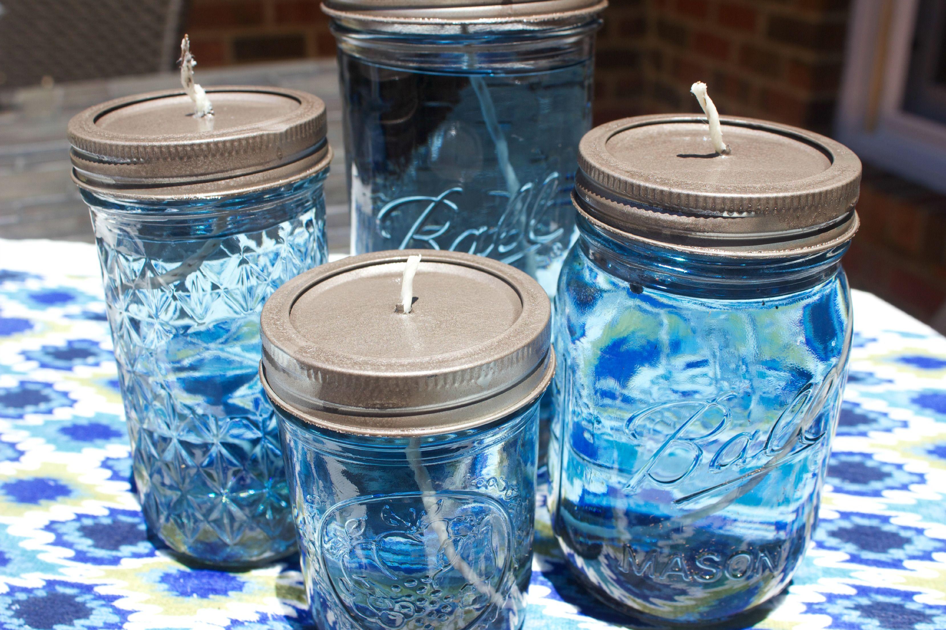 Easy DIY Citronella Candles Citronella CandlesMason Jar