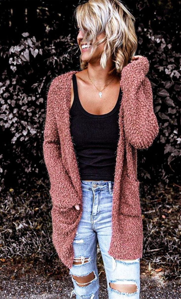 Long Cardigan Outfit Ideas for Early Spring - DIY