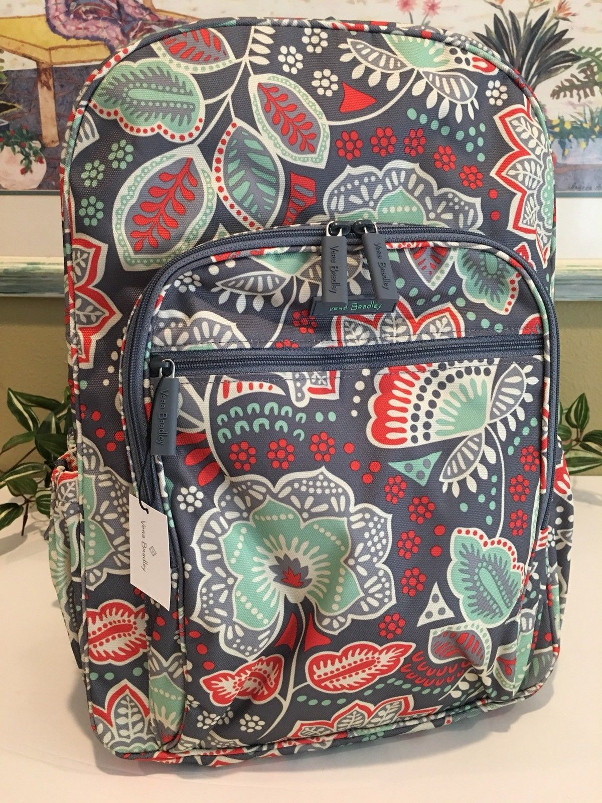 ed164dd36dde VERA BRADLEY LIGHTEN UP CAMPUS BACKPACK SCHOOL COLLEGE BOOK BAG NOMADIC  FLORAL