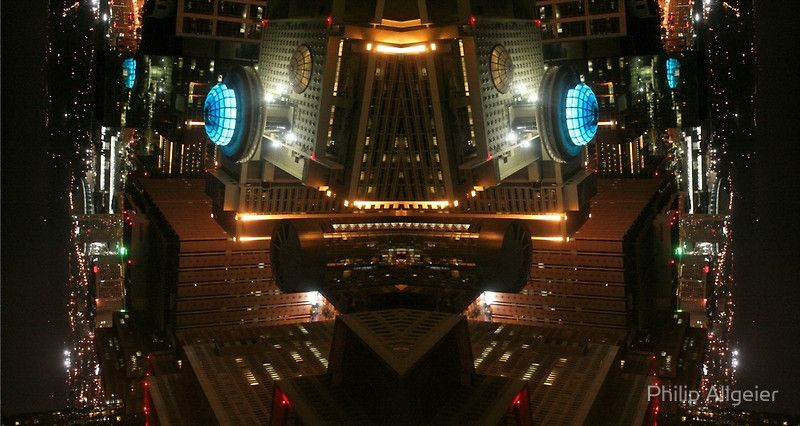 Taken from my hotel window in Atlanta, and mirrored.