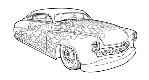 hot rod coloring pages - Hot Rod Coloring Pages