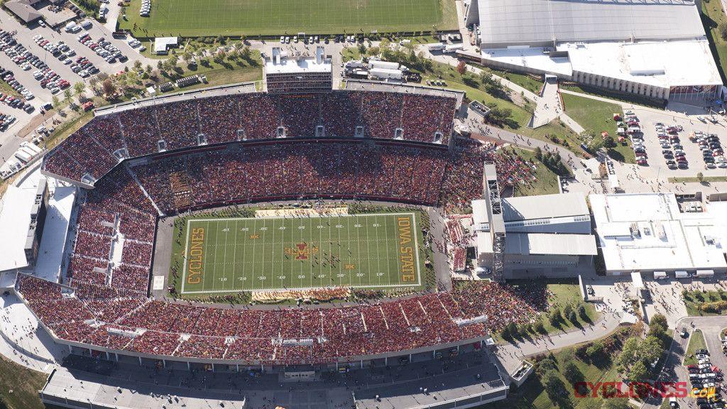 Jack Trice Stadium Aerial Shots Iowa State Cyclones Football Stadium Iowa State Cyclones