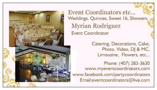 Our business card wedding decorations by event coordinator etc our business card junglespirit Images