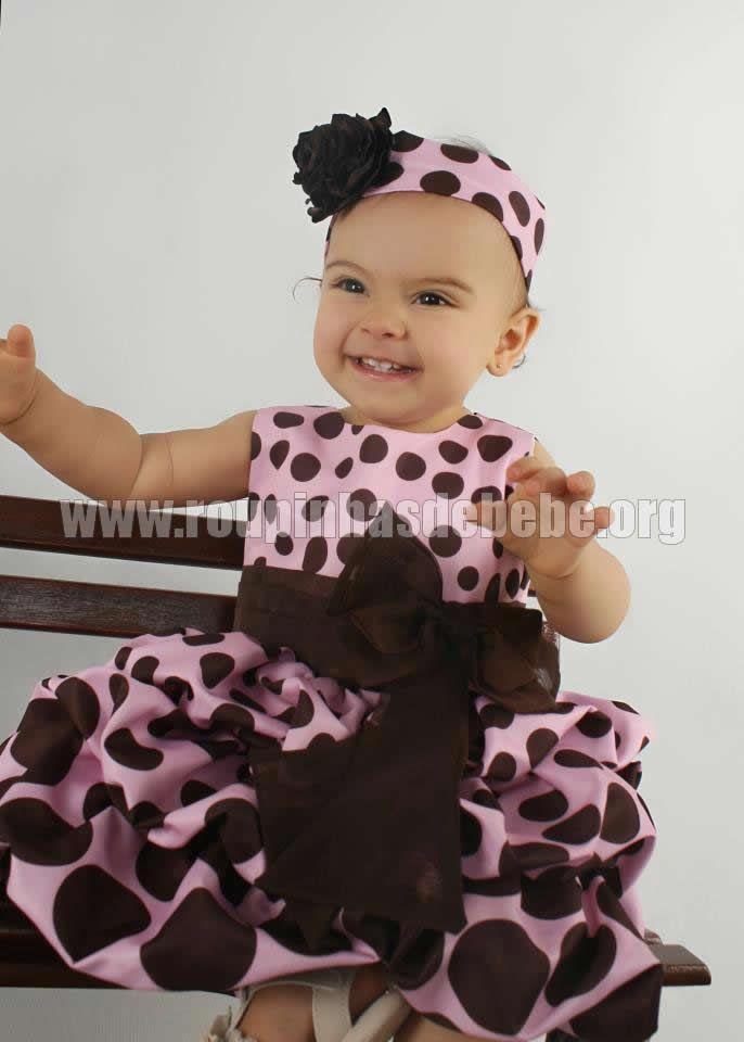 500edb09f0 Vestido balonê rosa com marrom para meninas. Conheça outros modelos de  vestidos…