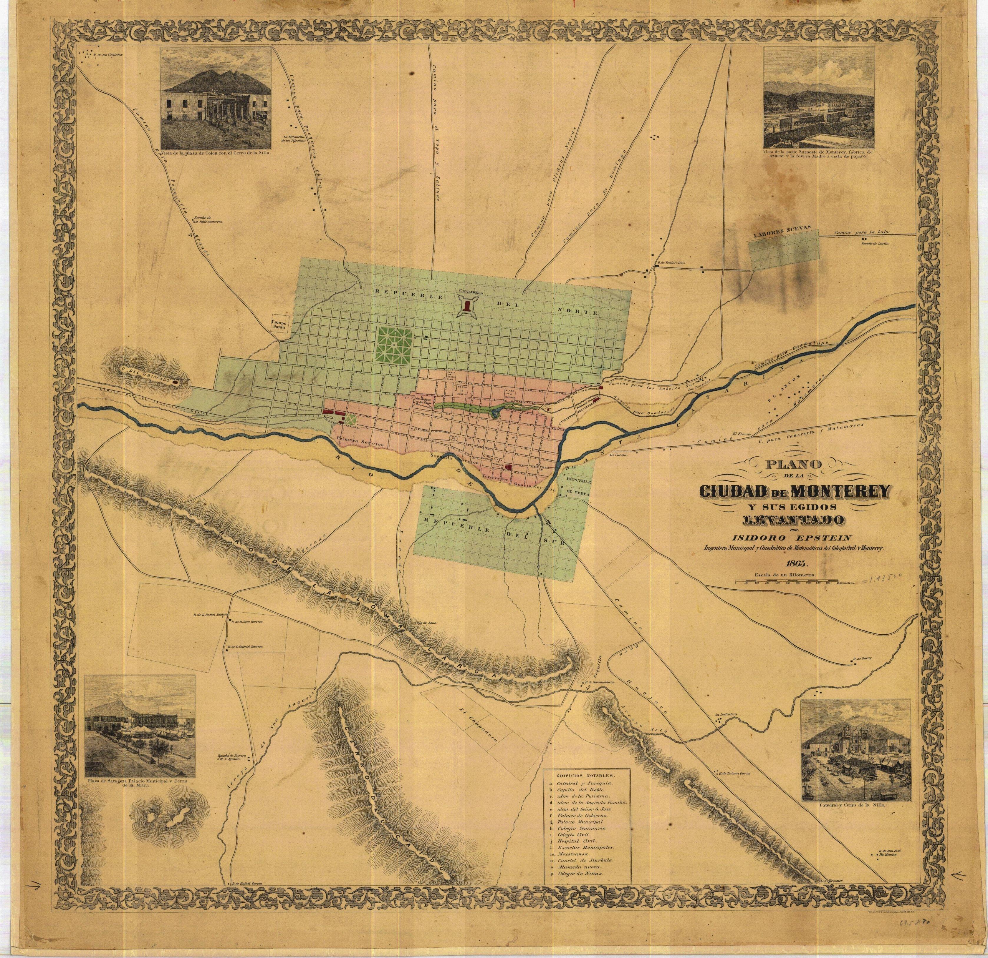 Maps Of Monterrey Mexico - Maps |Old Monterrey Mexico Map