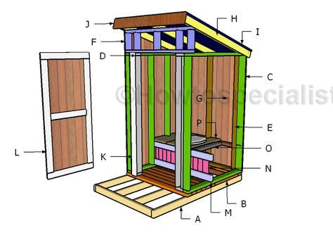 Free Outhouse Plans Howtospecialist How To Build Step By Step Diy Plans Building An Outhouse Outhouse Diy Plans
