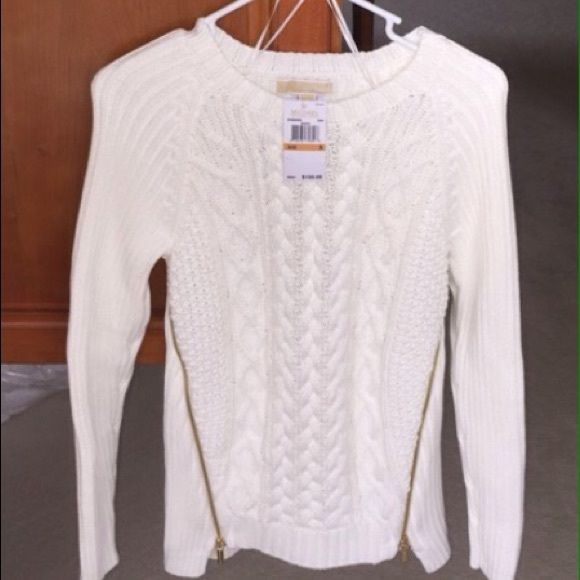 Micheal Kors beautiful white sweater Brand new, Micheal Kors ...