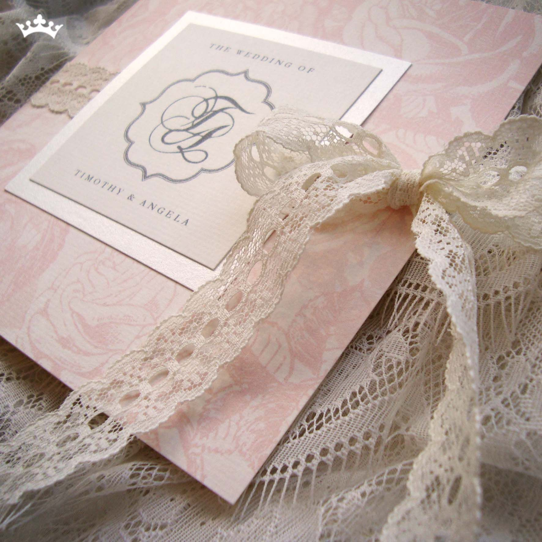 Honey Lace Cookies - 140x140mm light pink rose pattern with a ...