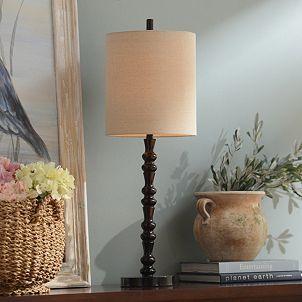 Mahogany Bronze Spindle Table Lamp | Kirkland's $31.99