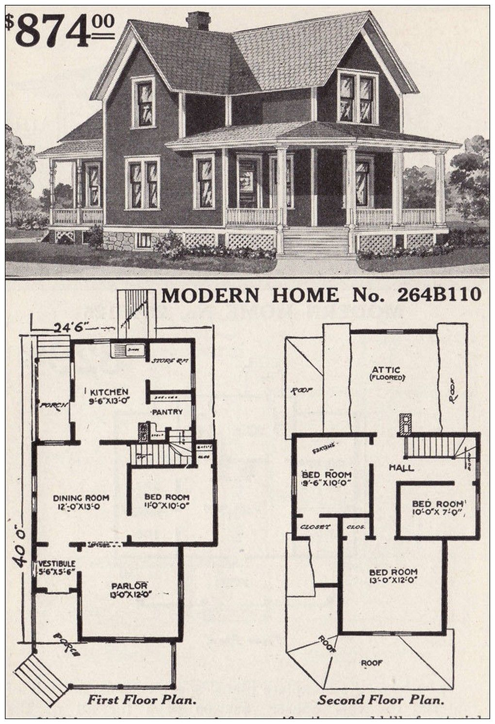 1900 Farmhouse Style House Plans Vintage House Plans Farmhouse