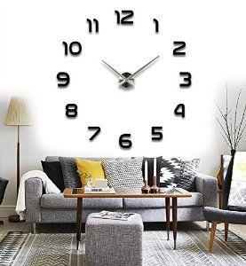 Robot Check Wall Clocks Living Room Diy Clock Wall Large Wall