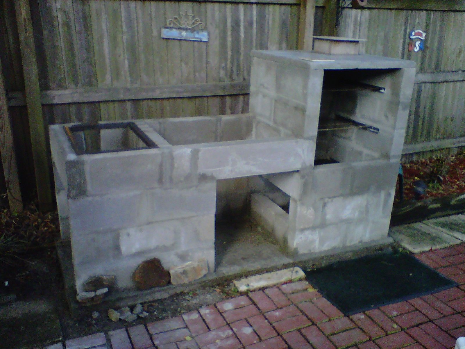Built in smoker grills outdoor kitchen pinterest for Built in barbecue grill plans