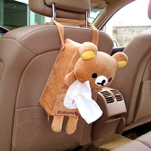 Cute Soft Plush Bear Rilakkuma San x Tissue Box Cover Car Accessories Home Decor | eBay
