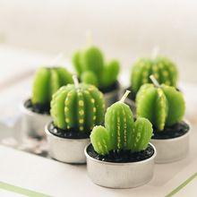 Décoration de la maison 3d Rare Mini Cactus bougie Table de thé lumière jardin Simulation bougie usine décoration de mariage bougies mignon Velas(China (Mainland))