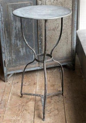 Zinc Top Table Works In So Many Places As Is Or Re Finished In A Million Ways Zinc Table Industrial Decor Decor