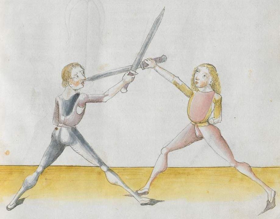 Lecküchner, Hans: Kunst des Messerfechtens Nordbayern, 1482 Cgm 582 Folio 407