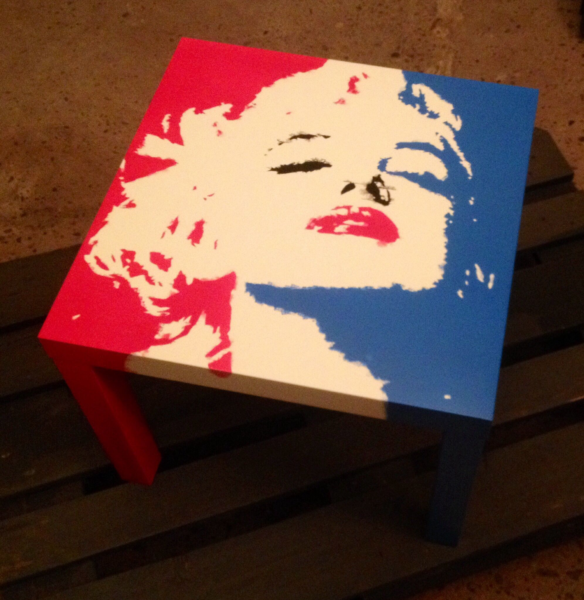 Marilyn Monroe - Ikea table | Pop-art made by me | Pinterest | Ikea ...