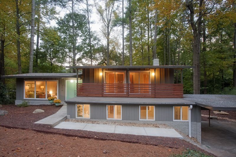 Mid century modern photo mi casa pinterest mid for Modern home builders atlanta