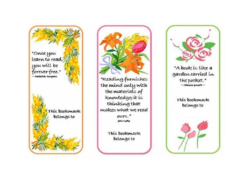 Bookmark Template   Handmade Cards    Bookmark