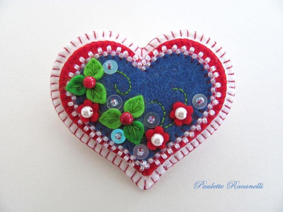 Felt Heart Pin