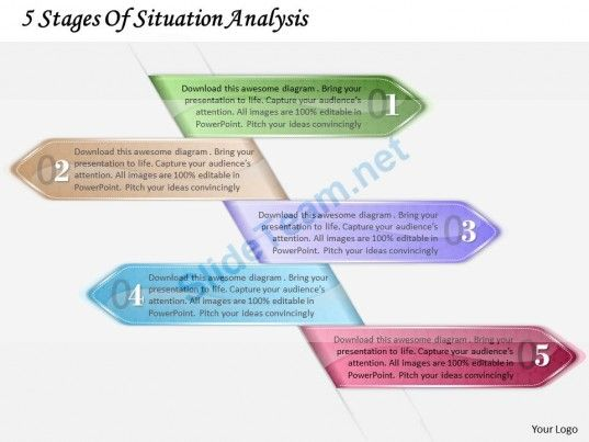 1213 Business Ppt Diagram 5 Stages Of Situation Analysis
