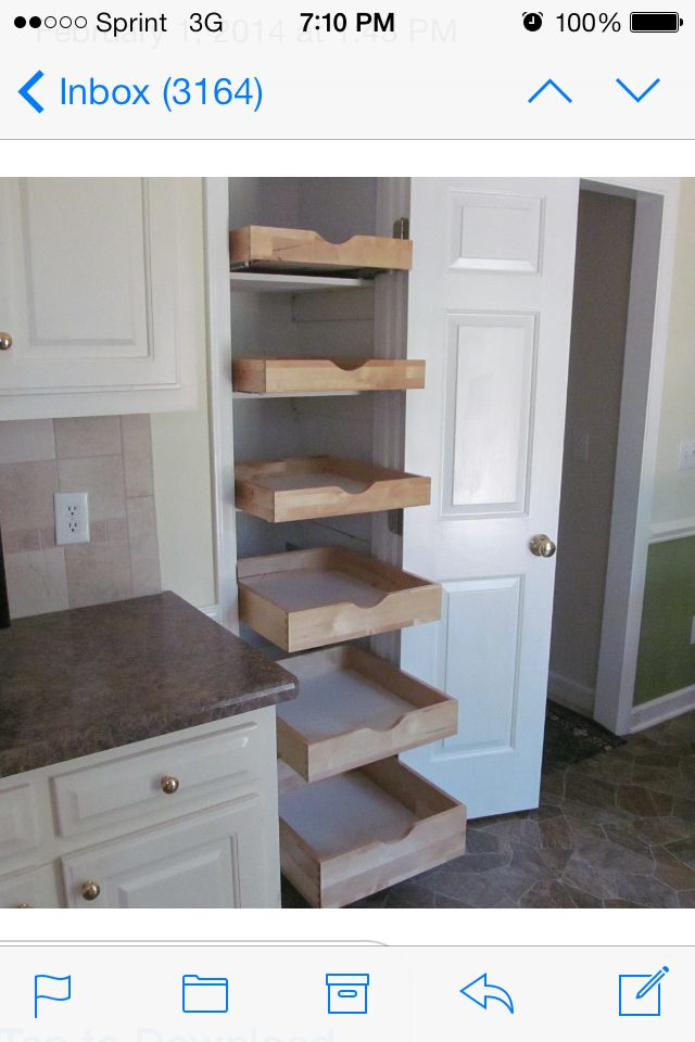 EzEglide.com Turn Your Broom Closet Into A Useful Storage Area Or Pantry