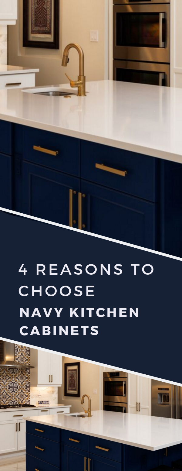 4 Reasons to Jump on the Navy Cabinet Kitchen Trend | Navy ...